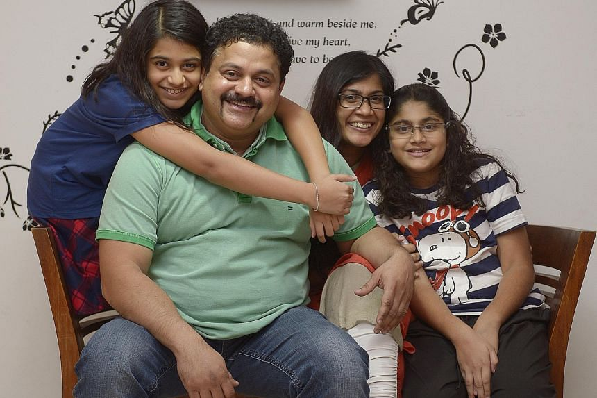Mr Samir Salim Neji and his wife Sabeena Ahamed flanked by their daughters Malaeka (on the left) and Sazma.