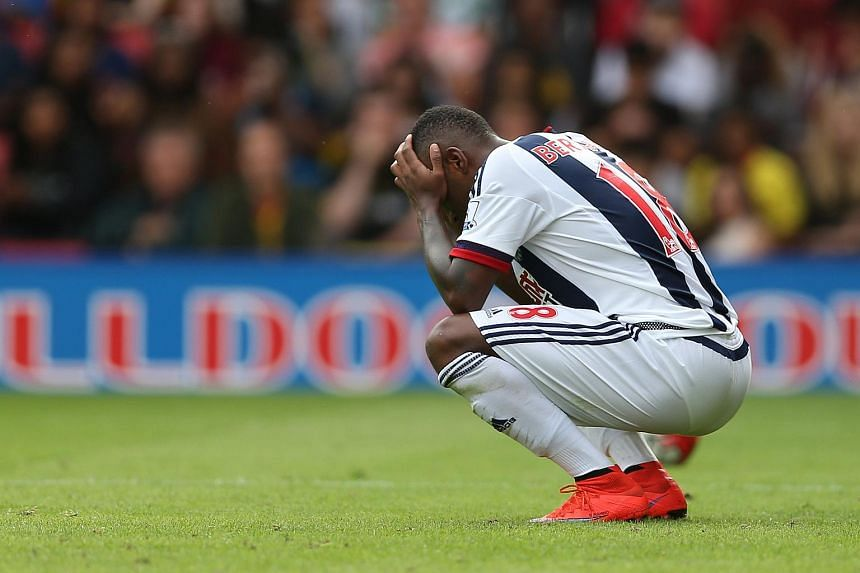 West Brom's Saido Berahino during a match against Watford on Aug 15, 2015.