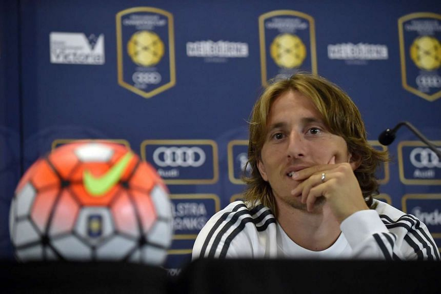 Real Madrid midfielder Luka Modric during a press conference on July 23, 2015.