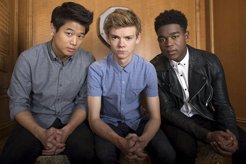 (From left) Lee Ki Hong, Thomas Brodie-Sangster and Dexter Darden.