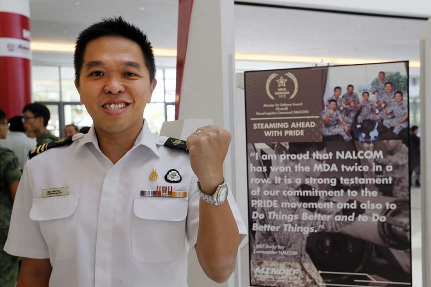 The Naval Logistics Command (Nalcom), under Military Expert 7 Andy Tay, won the Minister for Defence Award. One project that helped Nalcom win the award was an iPad app that cuts paperwork.