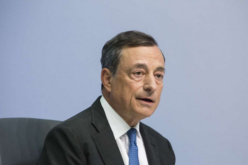 Mr Mario Draghi, president of the European Central Bank, speaks during a news conference to announce the bank's interest rate decision at the ECB headquarters in Frankfurt, Germany, on Sept 3, 2015.