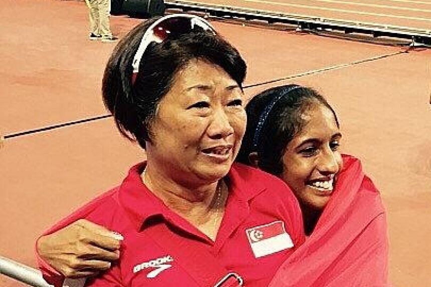 Shanti Pereira, who blossomed under coach Margaret Oh, made headlines with her 200m victory in the SEA Games in June.