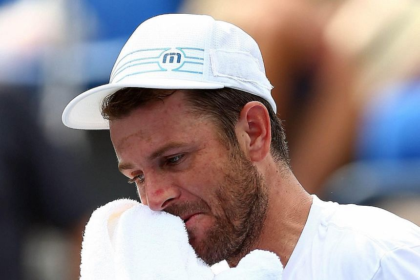 Mardy Fish, 33, who has battled a heart condition and anxiety attacks, fell in five sets to Feliciano Lopez in the US Open second round on Wednesday.