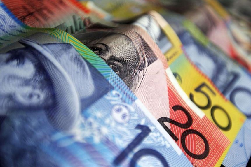 The Australian dollar fell as far as 69.60 US cents, its lowest since 2009, after key support of 69.80 US cents finally gave way.