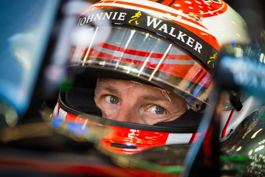 Jenson Button during the Belgian Formula One Grand Prix on Aug 21, 2015.