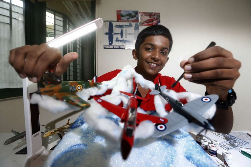 Student Faris Sirraj won the Most Creative Award at a competition with his SG50 airshow model.