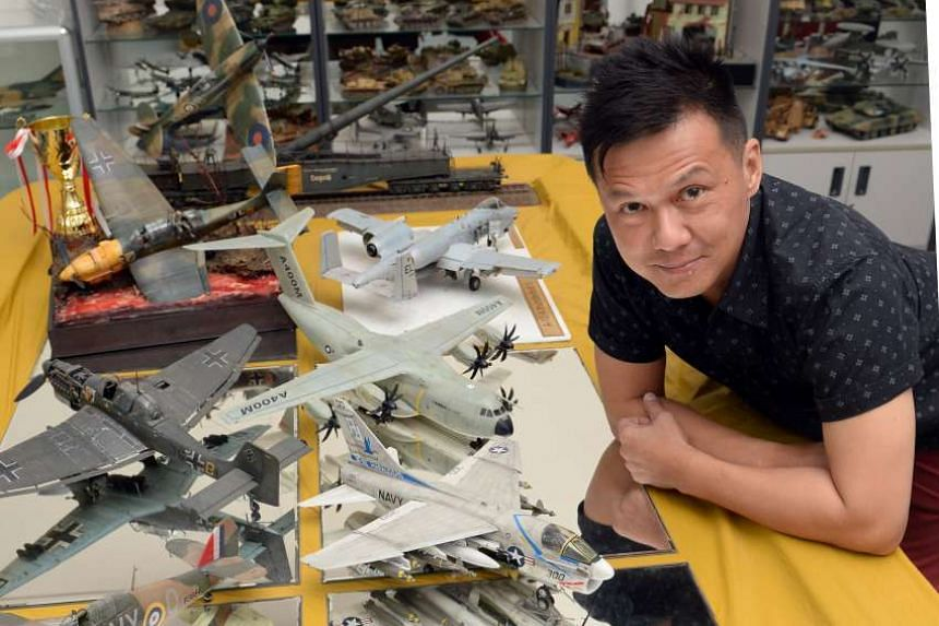 Mr Ignatius Lee has completed more than 500 airplane models in the last 40 years.