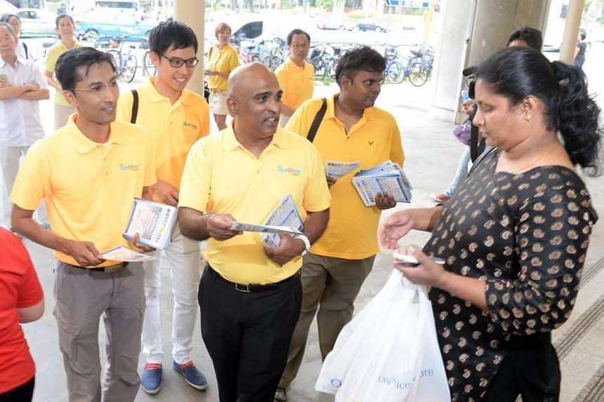 Also out and about yesterday were RP's Mr Osman Sulaiman, Mr Roy Ngerng, Mr M. Ravi and Mr Siva Chandran, who went on a walkabout in Ang Mo Kio.