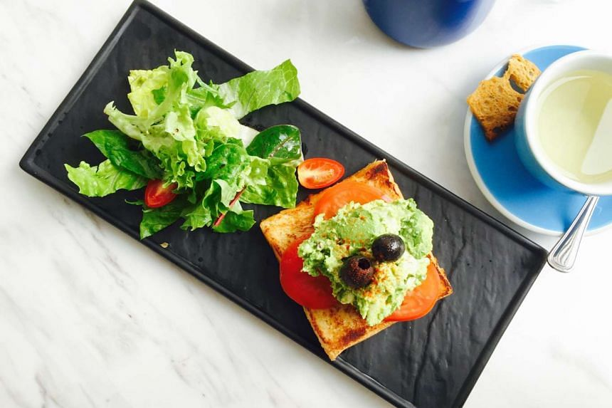 Open-faced avocado and feta sandwich ($16) from Crown Bakery & Cafe.