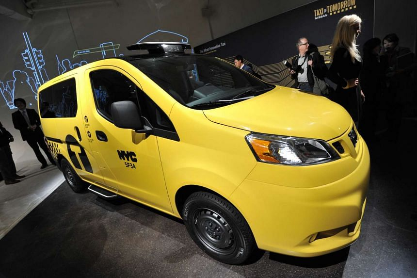 The Nissan NV200, New York's Taxi of Tomorrow unveiled in New York at the New York International Automobile Show.