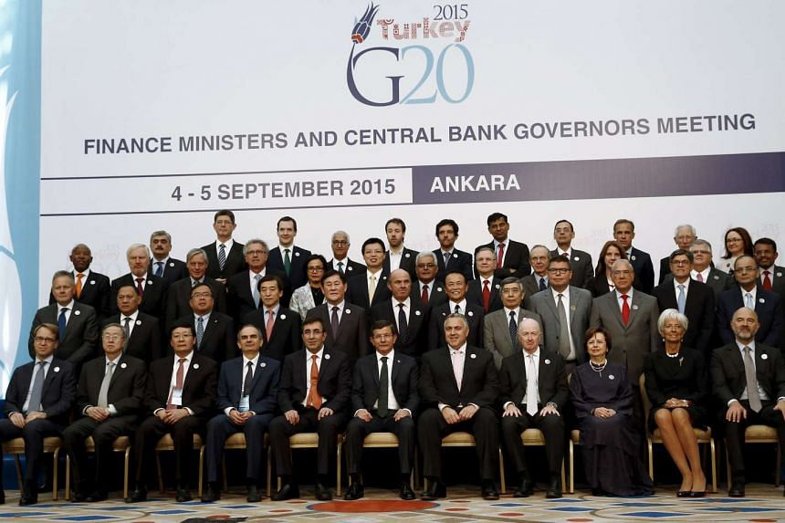 Finance ministers and central bank governors from the Group of 20 leading economies met in Turkey on Friday and Saturday, with slower growth in China and rising market volatility boosting the risks to the global economy.