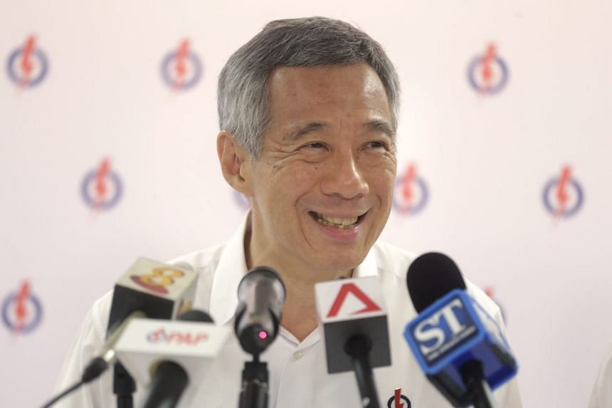 Prime Minister Lee Hsien Loong speaks during a press conference taking stock of the campaigning for the Sept 11 polls.