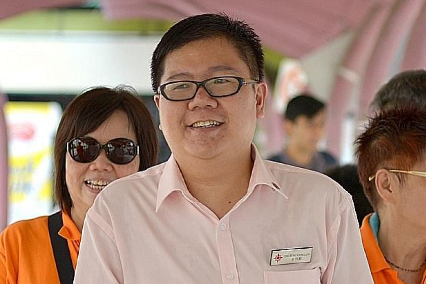 Mr Elvin Ong (above) wants to speak up on the competition for jobs. Mr Cedric Foo (left) said he has more plans for residents.