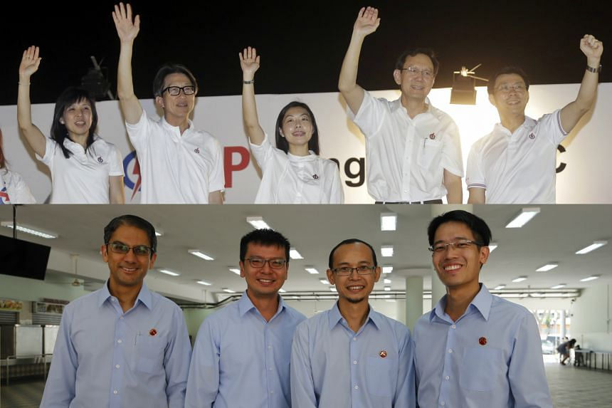 PAP's East Coast GRC candidates (top) and WP's East Coast GRC candidates.