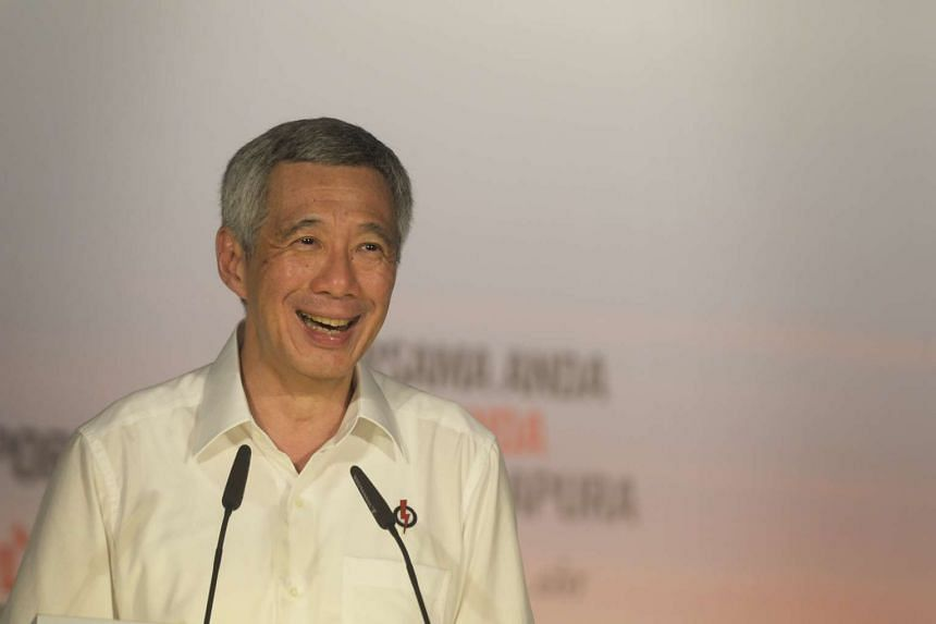 Prime Minister Lee Hsien Loong speaking at the People's Action Party rally on Sept 4.