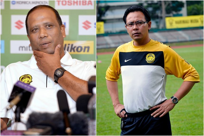 Malaysia national football coach Dollah Salleh (left) has resigned, paving the way for Ong Kim Swee to be appointed interim coach of the Tigers.