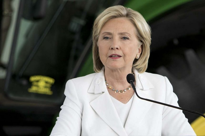 Democratic presidential candidate Hillary Clinton speaks during a press conference at Des Moines Area Community College in Ankeny, Iowa in this Aug 26, 2015 file photo.
