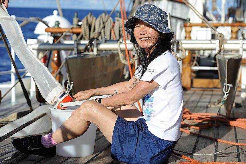 Dr Lanna Cheng, who started the field of marine entomology, on a sea expedition in 2010.