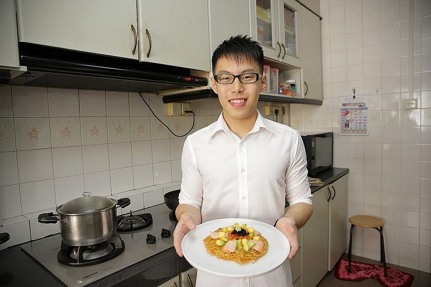 Mr Jonathan Loong plans to make a chicken rice version of the ramen pizza as a tribute to his Hainanese roots.