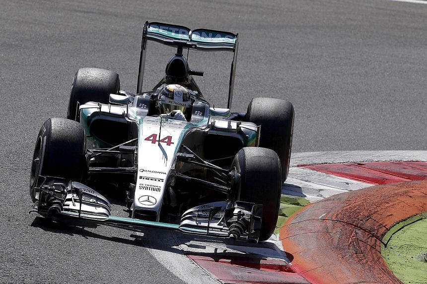 Lewis Hamilton sets himself up to claim his seventh F1 race win of the season after bagging pole.
