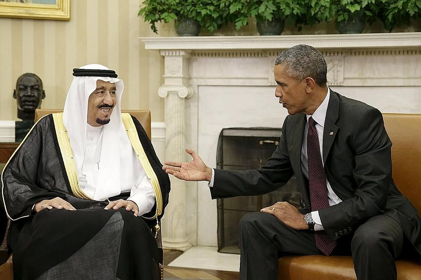 US President Barack Obama during his meeting with Saudi King Salman at the White House last Friday.