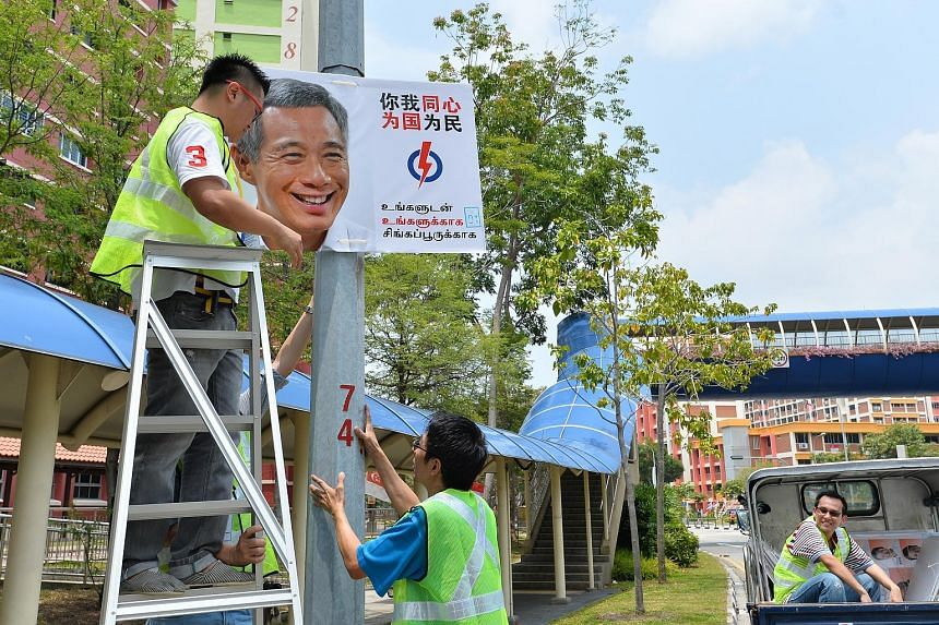 Eleven years after taking the helm as PAP's secretary- general and Singapore's prime minister, Mr Lee Hsien Loong seems to have come into his own as the star and poster boy for the men and women in white. Solo campaign pictures of a smiling Mr Lee ar