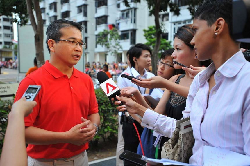 Mr Edwin Tong speaking to reporters on Aug 2, 2015. Mr Tong said on Sunday, Sept 6, that there is a need to relook at traditional means testing, to ensure those living in private estates are not left out of Government social programmes.