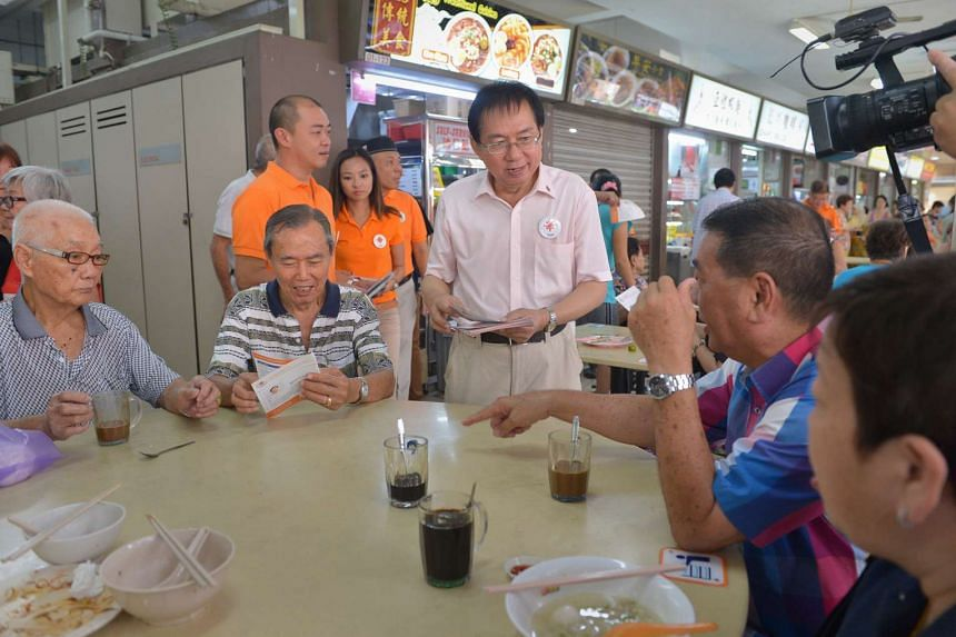 National Solidarity Party candidate Cheo Chai Chen (centre), who is contesting in MacPherson SMC, was an MP for Nee Soon Central from 1991 to 1997 when he was with the Singapore Democratic Party.
