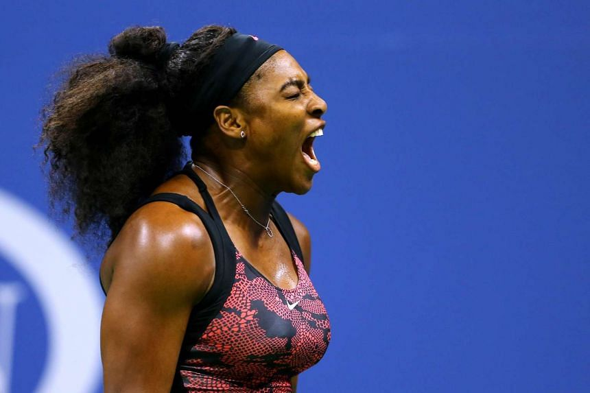 Serena Williams of the United States reacts against Bethanie Mattek-Sands of the United States during their Women's Singles Third Round match on Day Five of the 2015 US Open at the USTA Billie Jean King National Tennis Center on Sept 4, 2015, in the