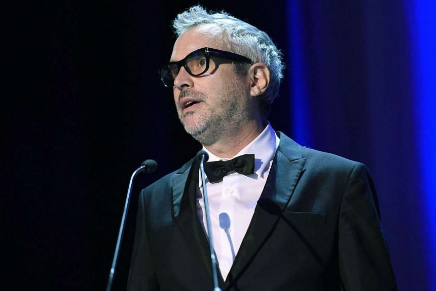Mexican director Alfonso Cuaron, president of 'Venezia 72' jury, speaks on stage during the opening ceremony and screening of 'Everest' at the 72nd annual Venice International Film Festival, in Venice, Italy, Sept 2, 2015.