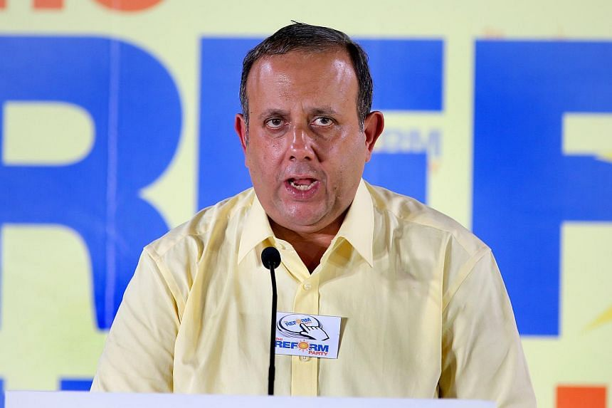 The Reform Party's sectarty-general Mr Kenneth Jeyaretnam addressing their first rally Yio Chu Kang Stadium on Sept 4, 2015.