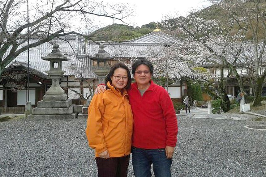 The couple on holiday in Kyoto, Japan, last year.