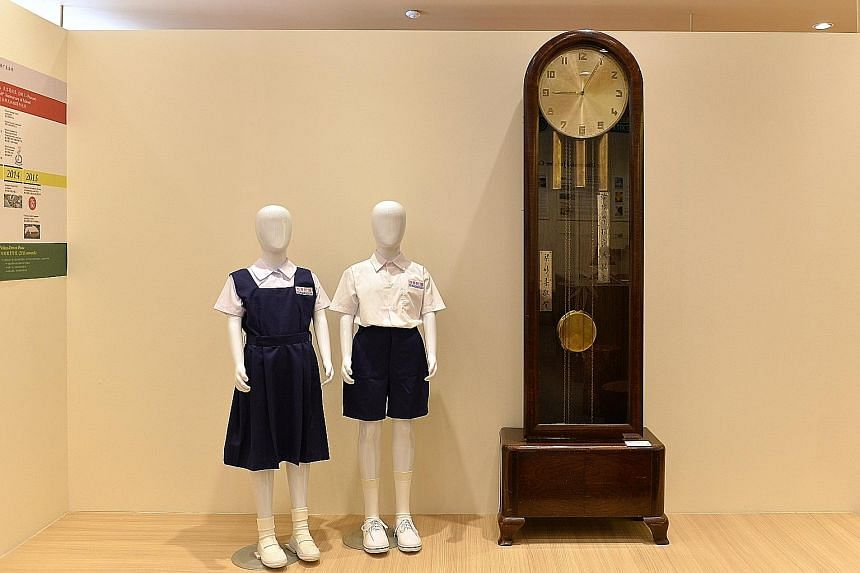 A grandfather clock that rang in the hours at the old campus.