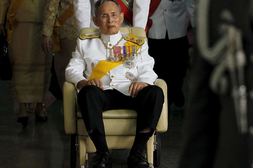 Thailand's King Bhumibol Adulyadej has been treated for a chest infection in Siriraj Hospital, said the palace in a statement on Monday, Sept 7, 2015.