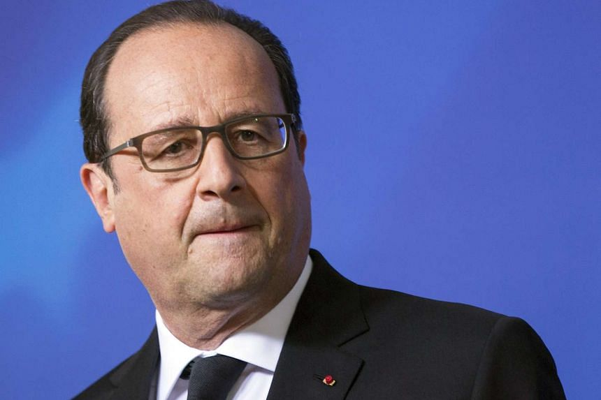 French President Francois Hollande said France would launch surveillance flights over Syria from Tuesday (Sept 8).
