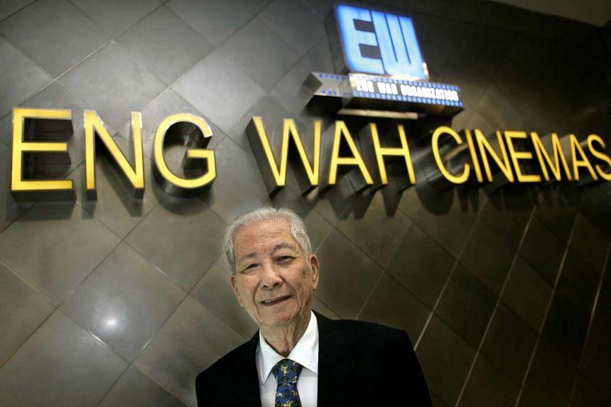 Mr Goh Eng Wah, who was the patriarch of the Eng Wah cinema group, died aged 92 last Saturday, Sept 5, 2015.