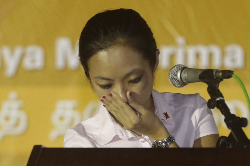 National Solidarity Party (NSP) candidate Kevryn Lim became tearful as she called for parenthood benefits for single parents and maternity leave for single mothers.
