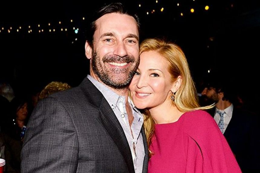 Jon Hamm (left) and Jennifer Westfeldt at the Season 4 Girls premiere party at the American Museum of Natural History in NYC.