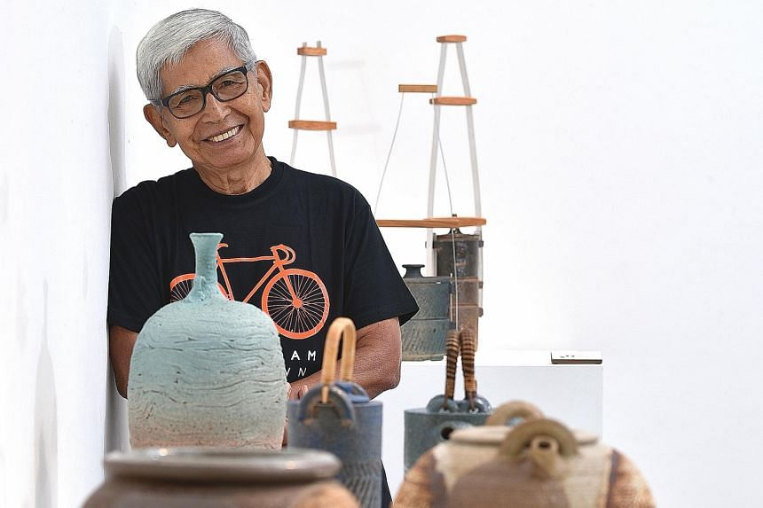 Potter Iskandar Jalil has made more than 80 ceramic pieces since he was diagnosed with prostate cancer last year.