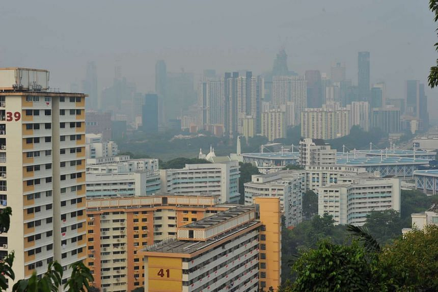 The view from Mount Faber Park on Sept 8, 2015.