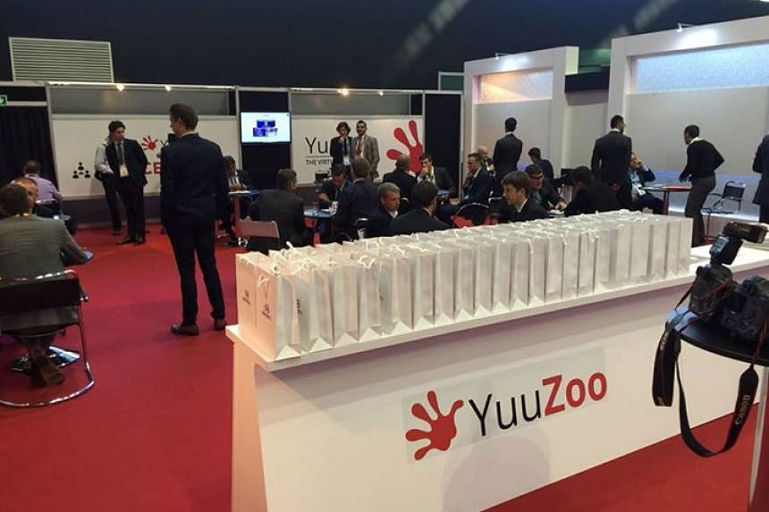 The YuuZoo booth at Soccerex Global Convention filled with everyone involved in the global football business.