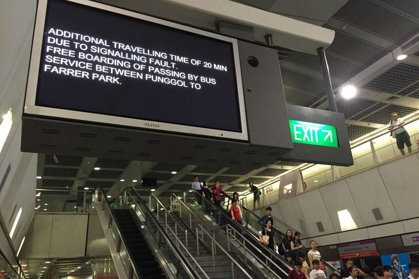 The North-East Line service was delayed due to a train signalling fault on Tuesday (Sept 8) morning.