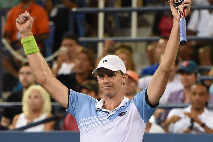 Kevin Anderson leaves after defeating Andy Murray of the UK during their 2015 US Open men's singles round- four match at the USTA Billie Jean King National Tennis Center on Sept 7, 2015 in New York.