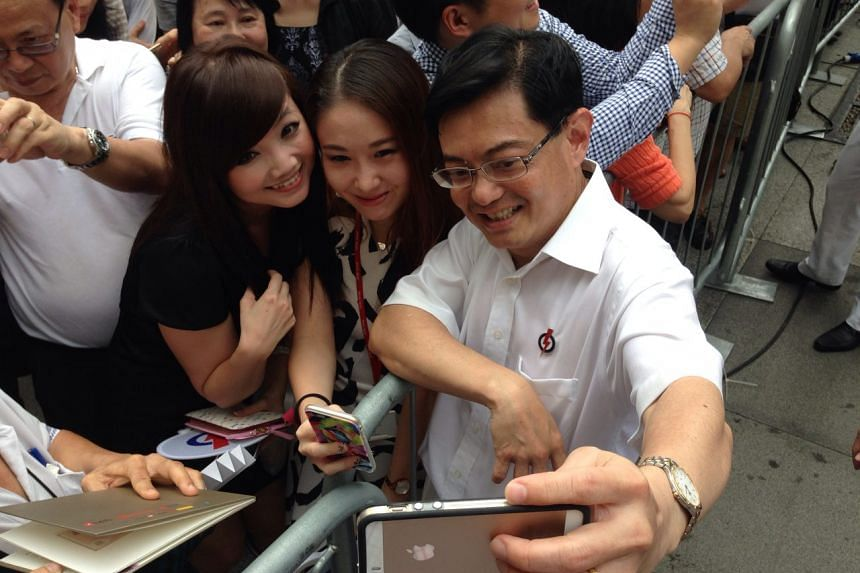 A selfie moment with Education Minister Heng Swee Keat.