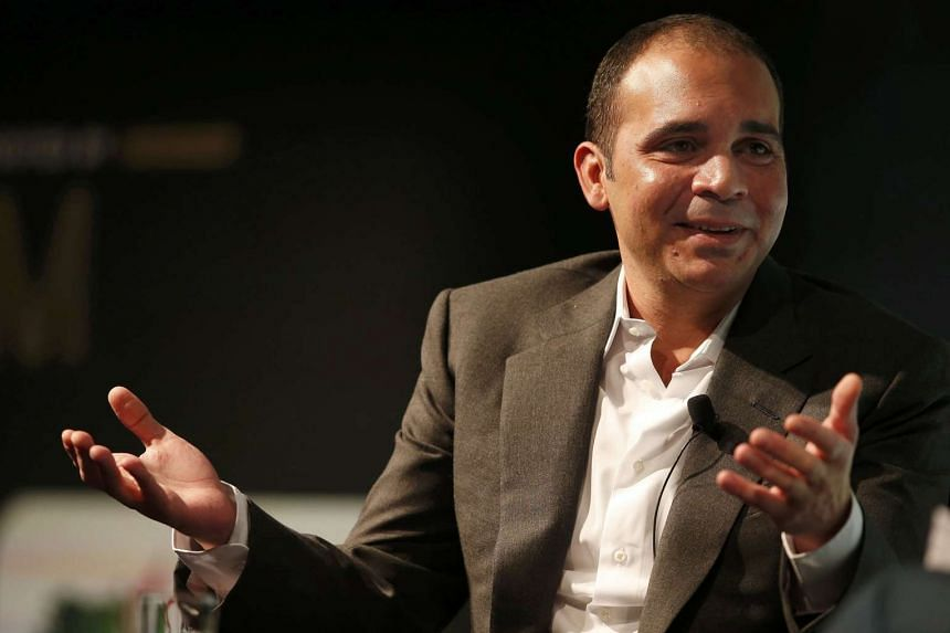 Fifa vice-president Prince Ali Bin Al Hussein of Jordan gestures during a speech on the future of football at the Soccerex convention in Manchester on Monday.