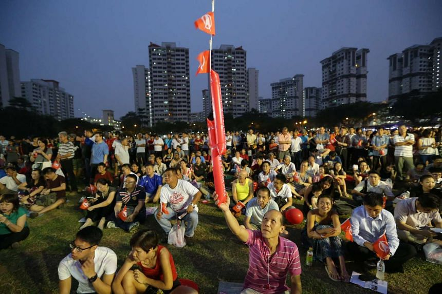 Singapore Democratic Party's rally for Bukit Batok SMC held at the field in front of Blk 265 Toh Guan Road on Sept 7, 2015.