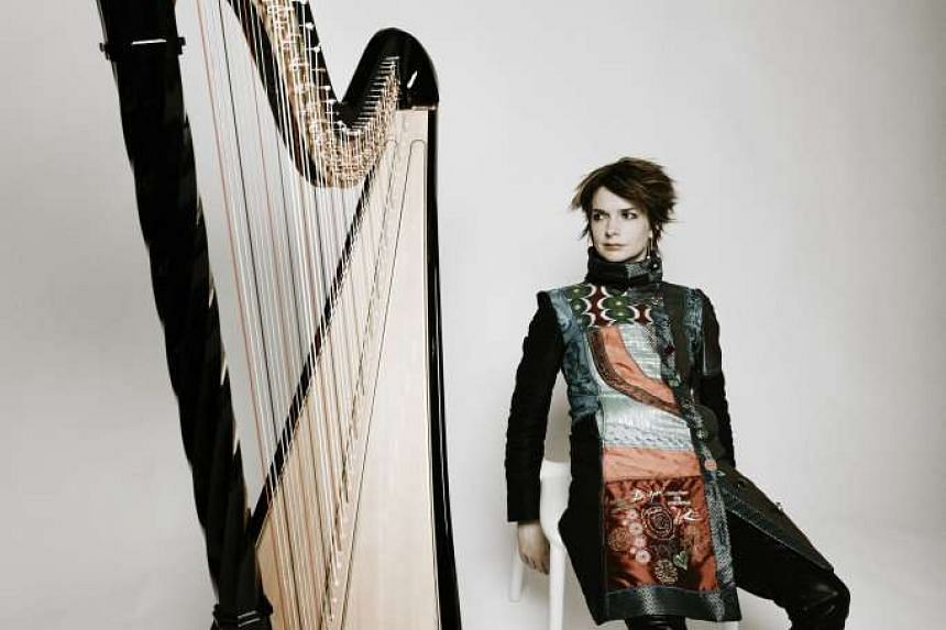 Welsh harpist Catrin Finch played in Singapore as part of HarpFest V on Sunday.