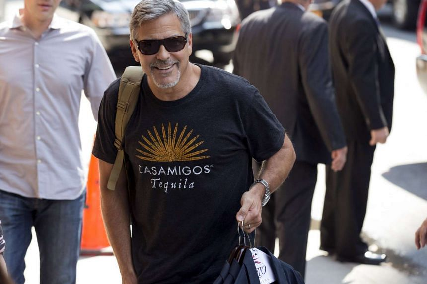 Actor George Clooney arrives for his appearance on The Late Show With Stephen Colbert at the Ed Sullivan Theater in Manhattan, New York, on Sept 8, 2015.