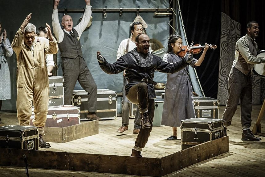 The Globe theatre in London Brings Hamlet to Singapore.